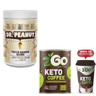 Combo Pasta De Amendoim Dr. Peanut 1kg + Keto Coffee 240g