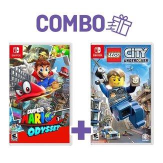 Combo Super Mario Odyssey + Lego City Undercover -