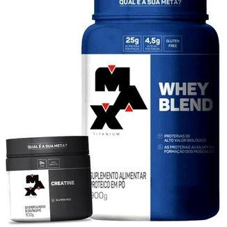 Combo Whey Blend e Creatina - Max Titanium Kit Wey