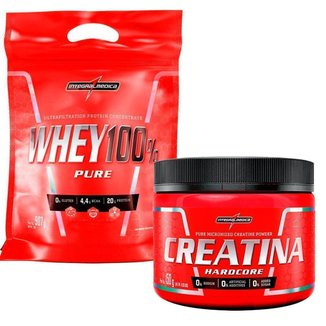 Combo Whey Protein 100% Pure Refil 907g + Creatina 150g Integralmedica Pronta Entrega