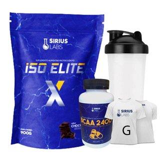 Combo Whey Protein + Bcaa + Shaker + Camiseta G - Sirius Lab