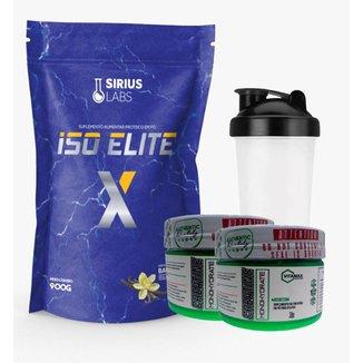 Combo Whey Protein Isolate 900g + 2x Creatina 100gr + Shaker