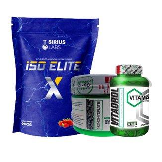 Combo Whey Protein Isolate 900g + Creatina 100gr + Vitadrol