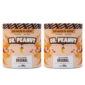 Combo/Kit 2x Pasta de Amendoim Dr.Peanut 650g Vários Sabores