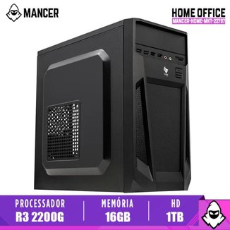 Computador Desktop Mancer, AMD Ryzen 3 2200G, 16GB DDR4, HD 1TB, 500W