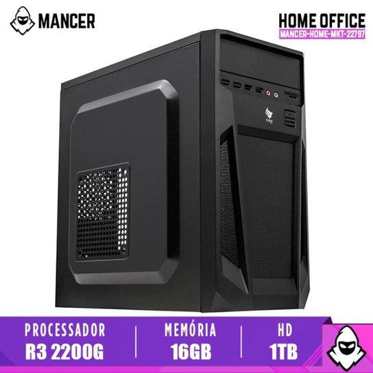 Computador Desktop Mancer, AMD Ryzen 3 2200G, 16GB DDR4, HD 1TB, 500W - Preto