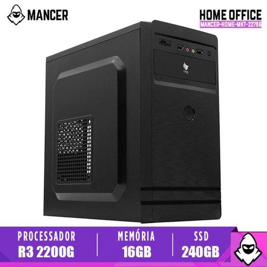 Computador Desktop Mancer, AMD Ryzen 3 2200G, 16GB DDR4, SSD 240GB, 500W - Preto