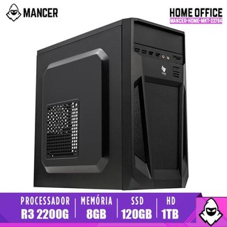 Computador Desktop Mancer, AMD Ryzen 3 2200G, 8GB DDR4, HD 1TB + SSD 120GB, 500W
