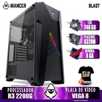 Computador Gamer Mancer, AMD Ryzen 3 2200G, A320M, 8GB DDR4, SSD 240GB, 400W + Camiseta