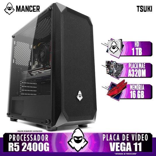 Computador Gamer Mancer, AMD Ryzen 5 2400G, A320M, 16GB DDR4, HD 1TB, 400W - Preto