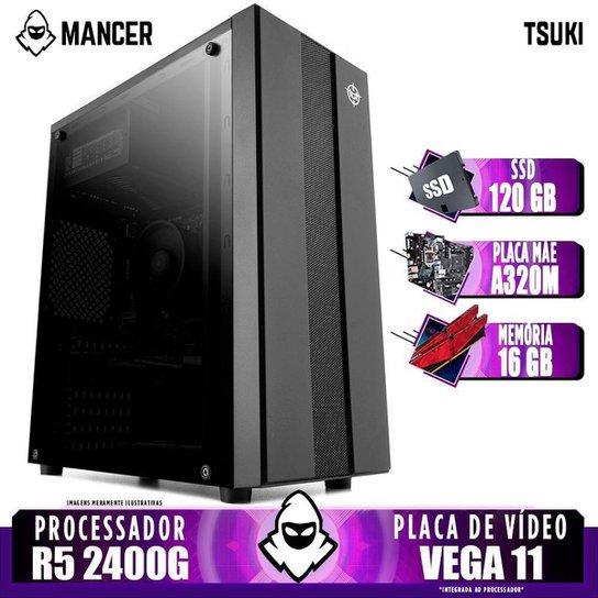 Computador Gamer Mancer, AMD Ryzen 5 2400G, A320M, 16GB DDR4, SSD 120GB, 400W - Preto