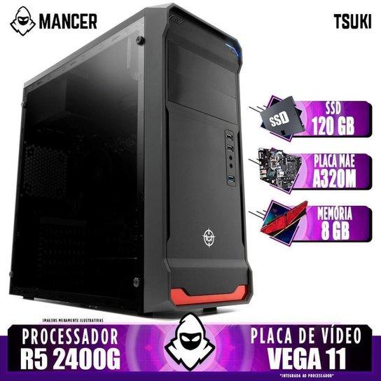 Computador Gamer Mancer, AMD Ryzen 5 2400G, A320M, 8GB DDR4, SSD 120GB, 400W - Preto