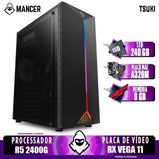 Computador Gamer Mancer, AMD Ryzen 5 2400G, A320M, 8GB DDR4, SSD 240GB, 400W - Preto