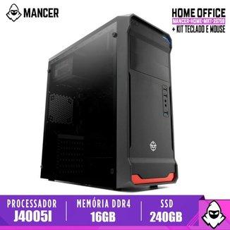 Computador Home Mancer, Intel Celeron J4005I-C/BR, 16GB DDR4, SSD 240GB, 500W, Combat
