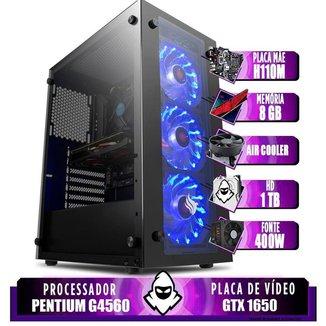 Computador intel G4560, H110M, GTX 1650 4GB, 8GB, HD1TB,400W