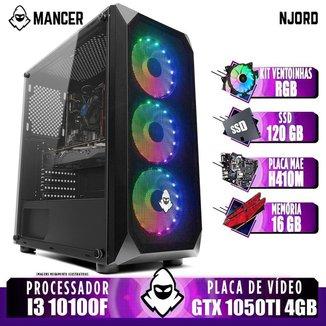 Computador Intel I3 10100F, GTX 1050Ti 4GB, 16GB DDR4, SSD 120GB, 400W, Kit Ventoinha