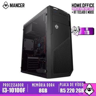 Computador intel i3-10100F, H410M, R5 220 2GB, 8GB, HD 1TB, 500W, Raider