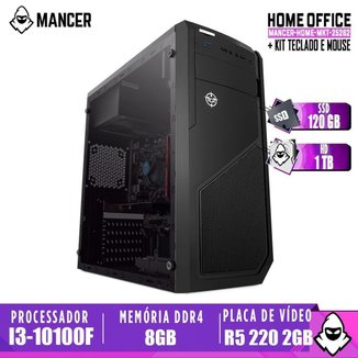 Computador intel i3-10100F, H410M, R5 220 2GB, 8GB, HD 1TB + SSD 120GB, 500W, Raider