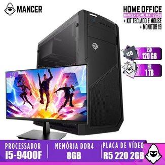 Computador intel i5-9400F, H310M, R5 220 2GB, 8GB, HD 1TB + SSD 120GB, 500W, Raider + Monitor 19