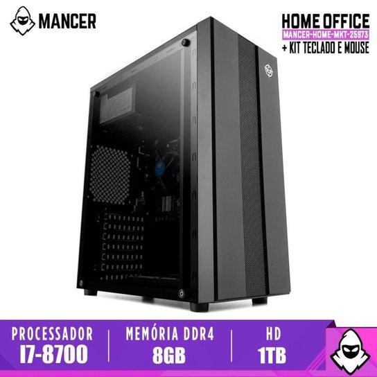 Computador Intel I7-8700, H310M, 8GB DDR4, HD 1TB, 500W, Archer - Preto