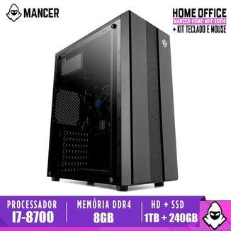 Computador Intel I7-8700, H310M, 8GB DDR4, HD 1TB + SSD 240GB, 500W, Archer