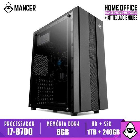 Computador Intel I7-8700, H310M, 8GB DDR4, HD 1TB + SSD 240GB, 500W, Archer - Preto