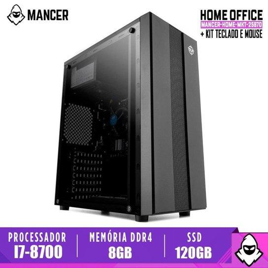 Computador Intel I7-8700, H310M, 8GB DDR4, SSD 120GB, 500W, Archer - Preto
