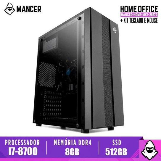 Computador Intel I7-8700, H310M, 8GB DDR4, SSD 512GB, 500W, Archer - Preto