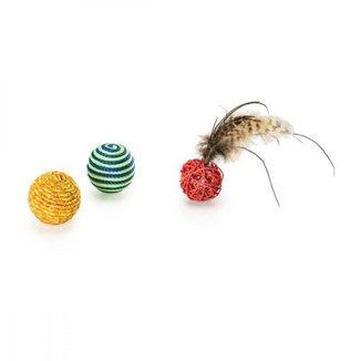 Conjunto 3 Bolinhas para gatos Mimo Pet - PP120