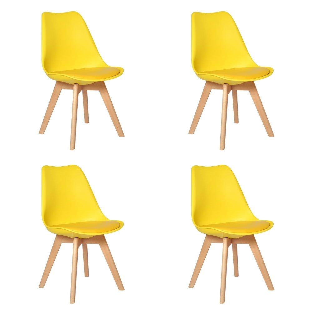 Conjunto 4 Cadeiras Eames Wood Leda Design - Compre Agora  26074d0d99d
