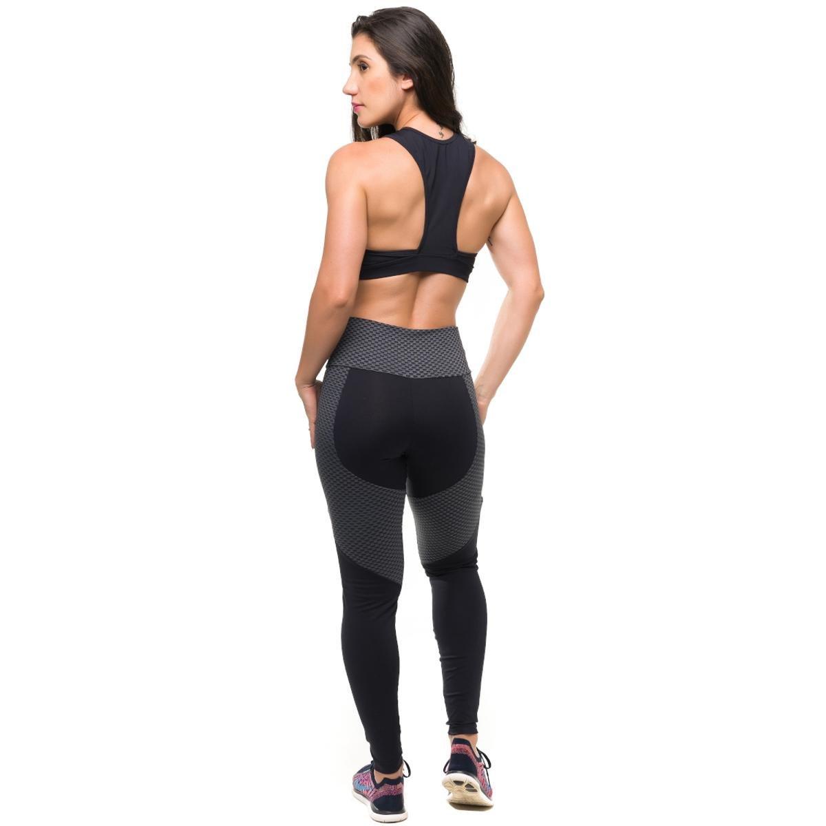 Gym Athletic Top Com Conjunto Proteção Feminino Solar Legging Fitness Preto Sandy a5dxxq