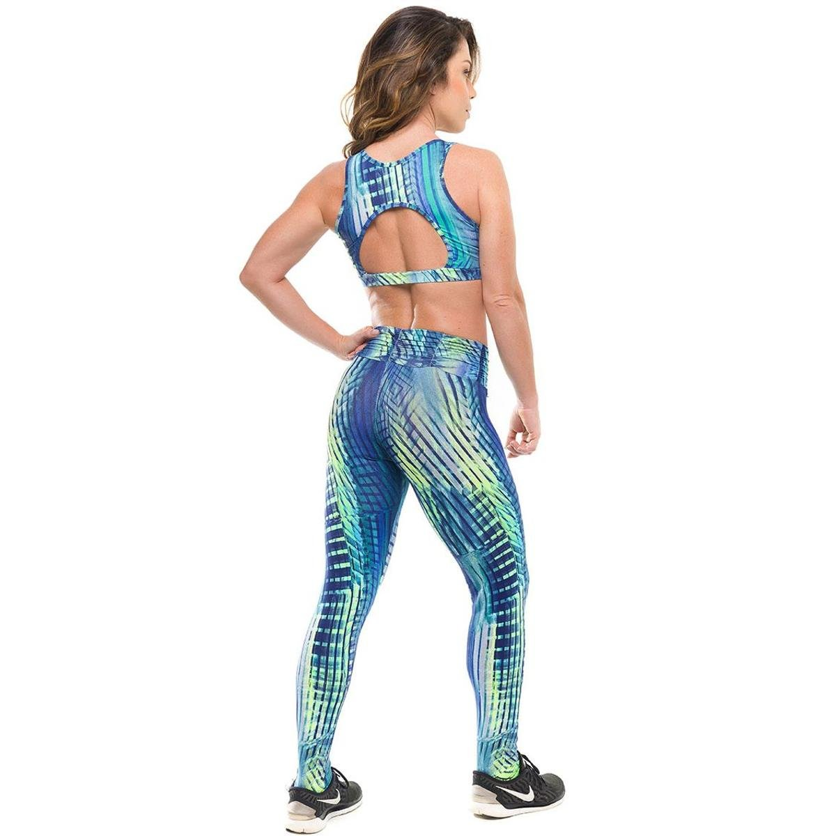 Azul Royal Legging Authentic Proteção Fitness Sandy Solar Top Feminino Sky Conjunto Com FAwBqw4v