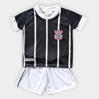Conjunto Bebê Corinthians Sublimado Camiseta + Short
