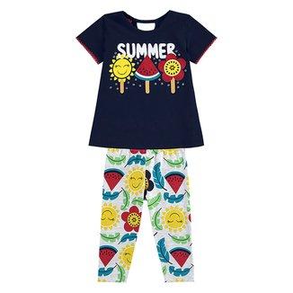 Conjunto Bebê Kyly Blusa e Legging Summer