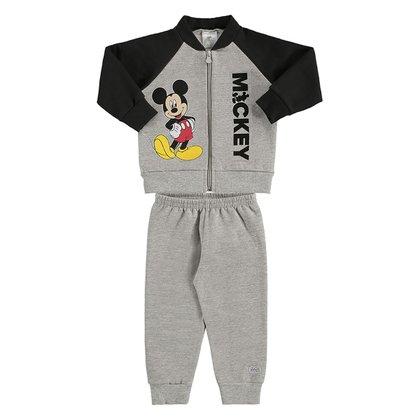 Conjunto Bebê Moletom Disney Mickey Mouse Masculino