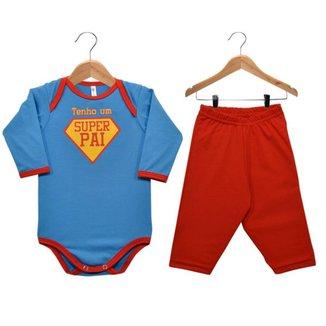 Conjunto Bebê Nigambi Super Pai Masculino