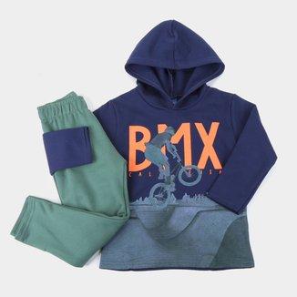 Conjunto Bebê Pipa BMX Capuz Masculino