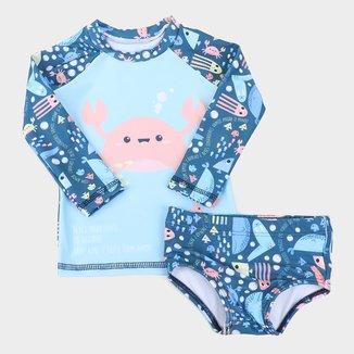 Conjunto Bebê Proteção Solar Kamylus Aquatic Masculino