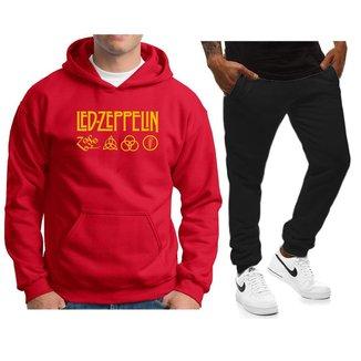 Conjunto Blusa Calça de Agasalho Moletom Led Zepplin NS-H-CEUML-CJ-24