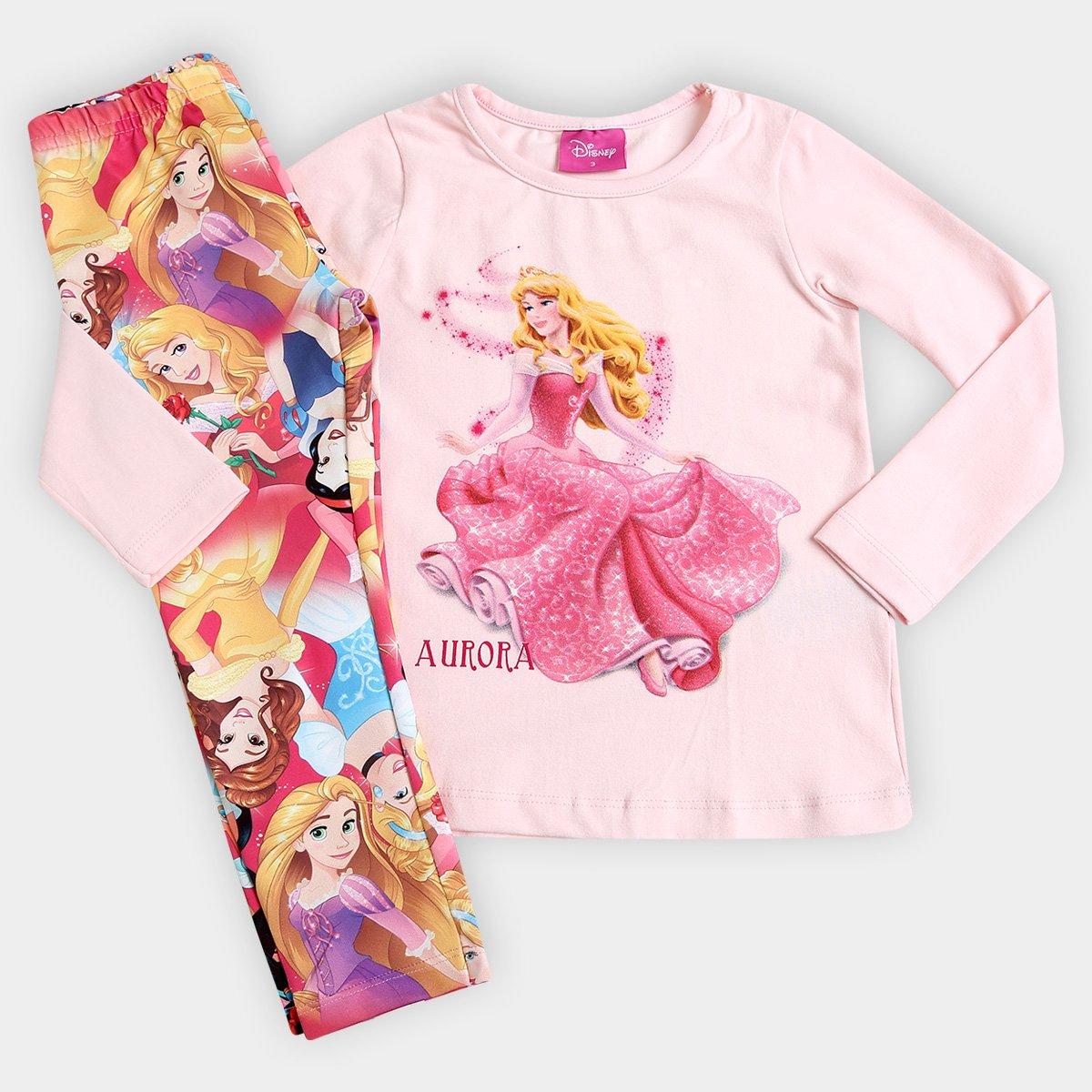 366c44fc2 Conjunto Brandili Disney Princesas Infantil - Compre Agora