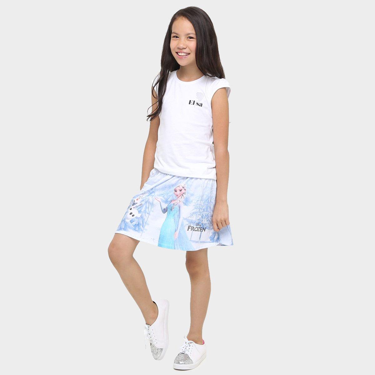 Conjunto Branco Brandili Claro e Azul Frozen Conjunto Brandili Infantil 5wqgaXUa