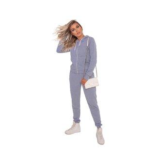 Conjunto casaco blusa moletom com capuz + calça moletom.