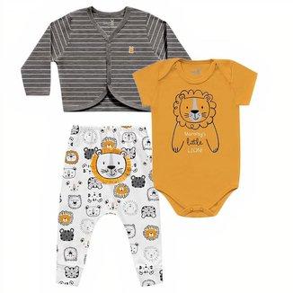 Conjunto Casaco + Calça + Body Bebê Kiko e Kika Masculino