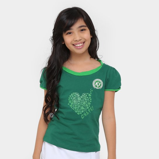Conjunto Chapecoense Infantil Short Saia - Branco+Verde