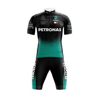 Conjunto Ciclismo Bermuda e Camisa Befast Petronas Black
