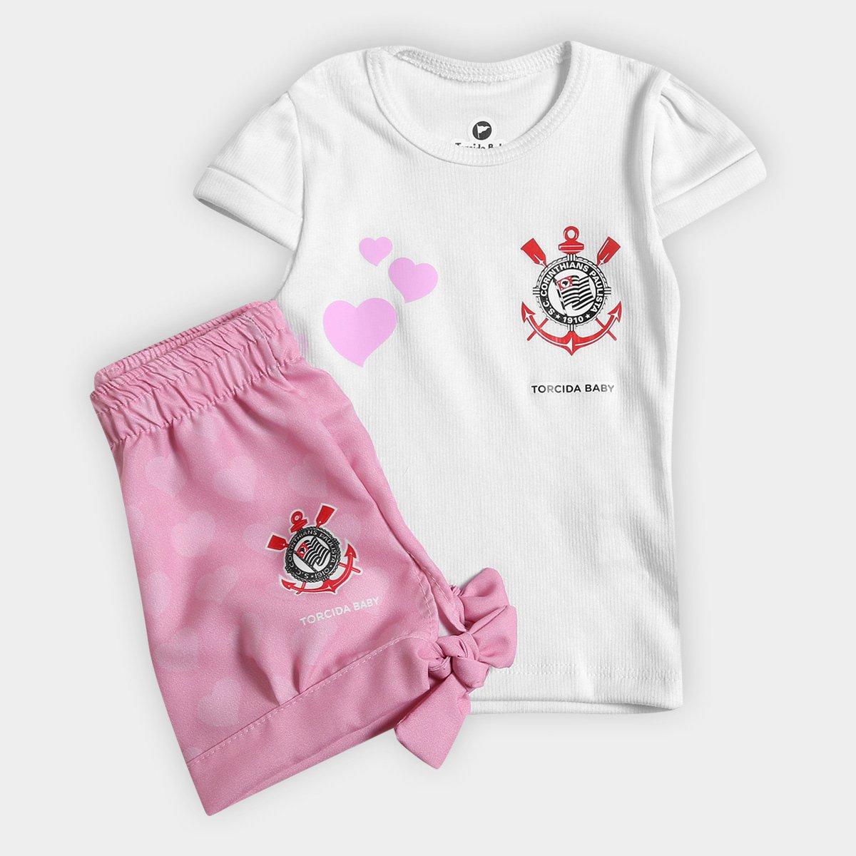 Conjunto Corinthians Infantil Torcida Baby Estilo II Bebê - Compre Agora  0c8d90408853a