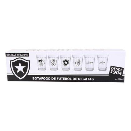 Conjunto de Copos Americano Botafogo 190 ml - 6 Unidades