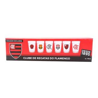 Conjunto de Copos Americano Flamengo Allmix 190 ml - 6 Unidades