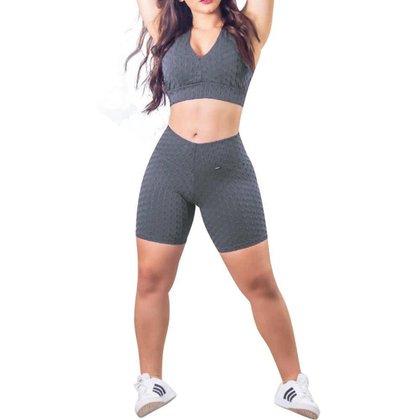 Conjunto Feminino Bermuda e Top Fitness
