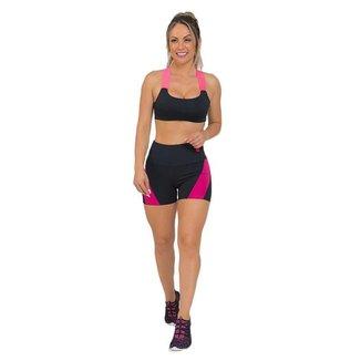 Conjunto Feminino Fitness Elegance Preto
